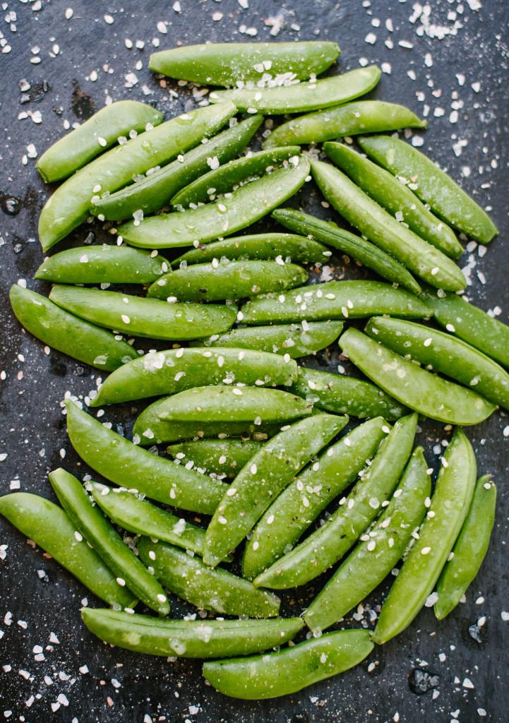 Sesame Snap Peas via Simply Real Health