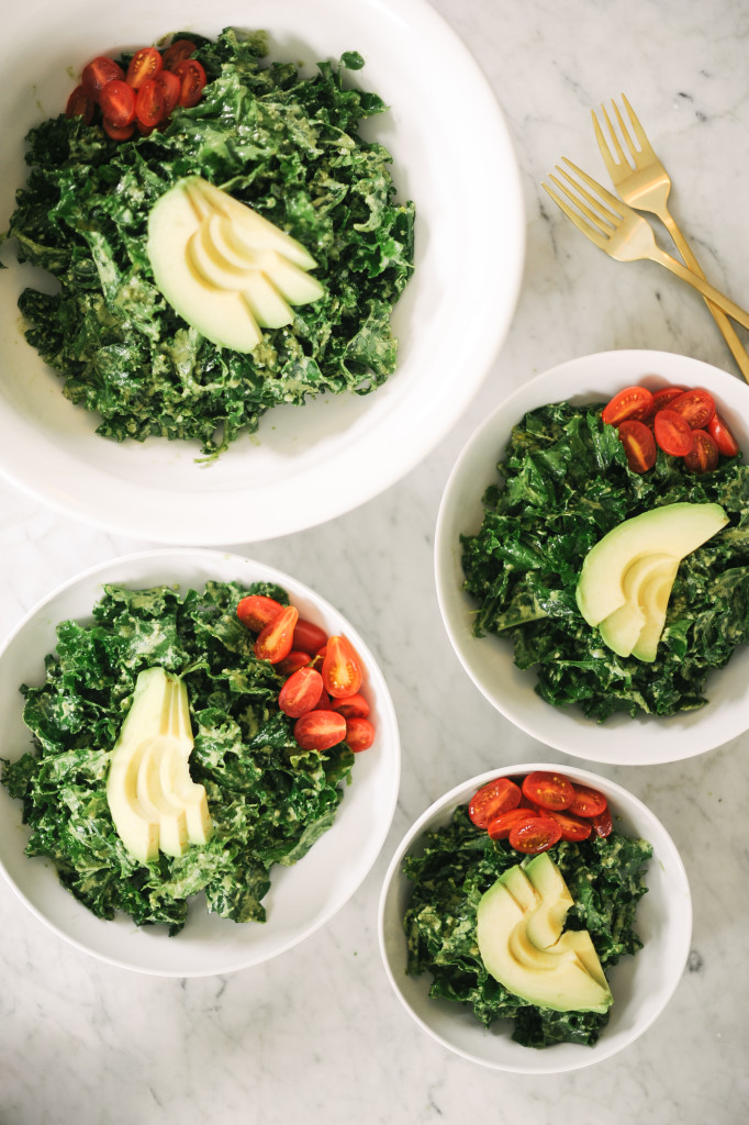 Pesto Kale Salad- Sarah's Favorite! via simplyrealhealth.com