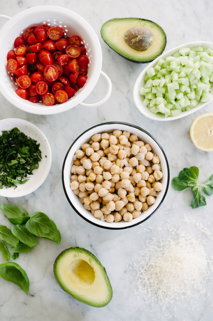 The Photoshoot Salad (Garbanzo Bean Salad) via Simply Real Health and the new Simply Real Health Cookbook (on sale now!)