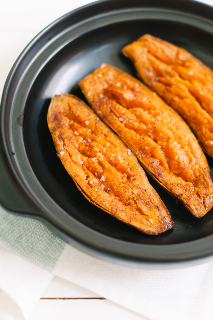 Baked Cinnamon Sweet Potato from The Simply Real Health Cookbook, via @simplyrealhealth. So great for a healthy breakfast or Fall side dish! Gluten and dairy free!