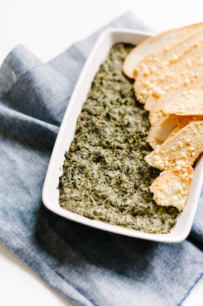 Healthy Spinach + Artichoke Dip from The Simply Real Health Cookbook via @simplyrealhealth