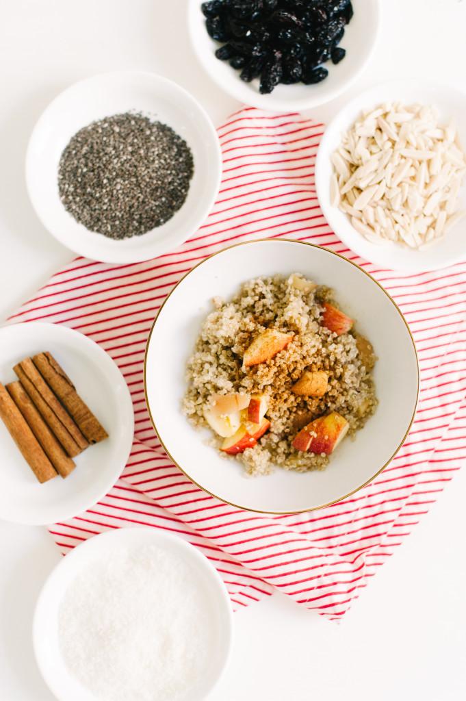 Apple Cinnamon Morning Quinoa via @simplyrealhealth.com