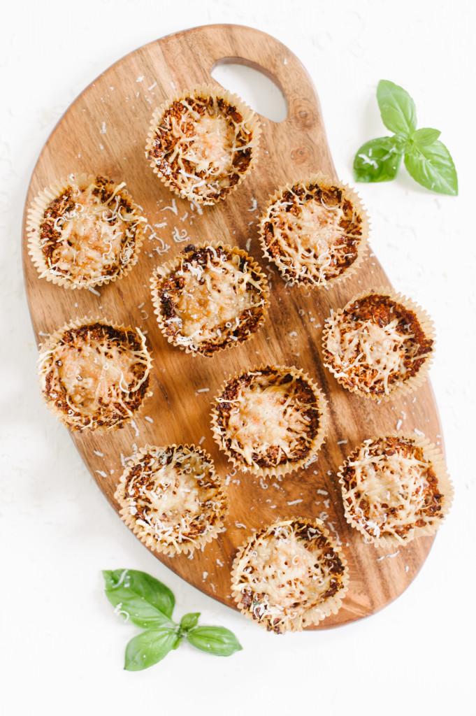 Quinoa Pizza Bites via the Simply Real Health Cookbook // www.simplyrealhealth.com //