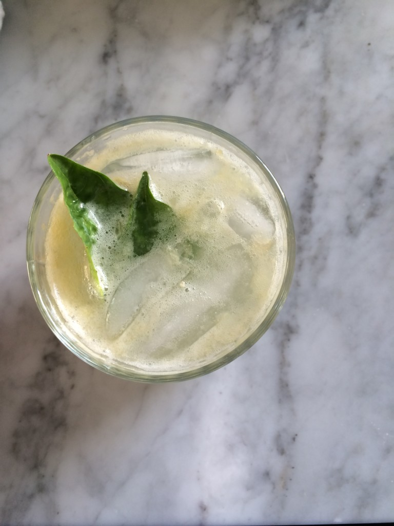 Meyer Lemon + Basil Refresher via Simply Real Health