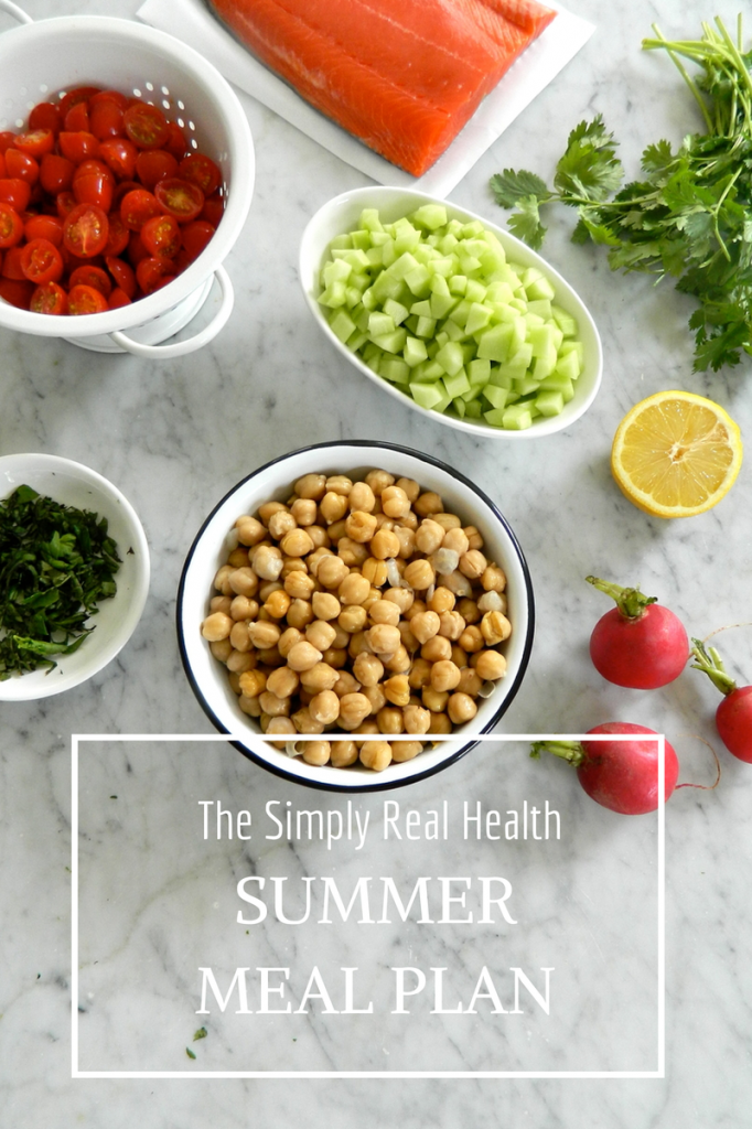 The Simply Real Health Summer Meal Plan// Simply Real Health