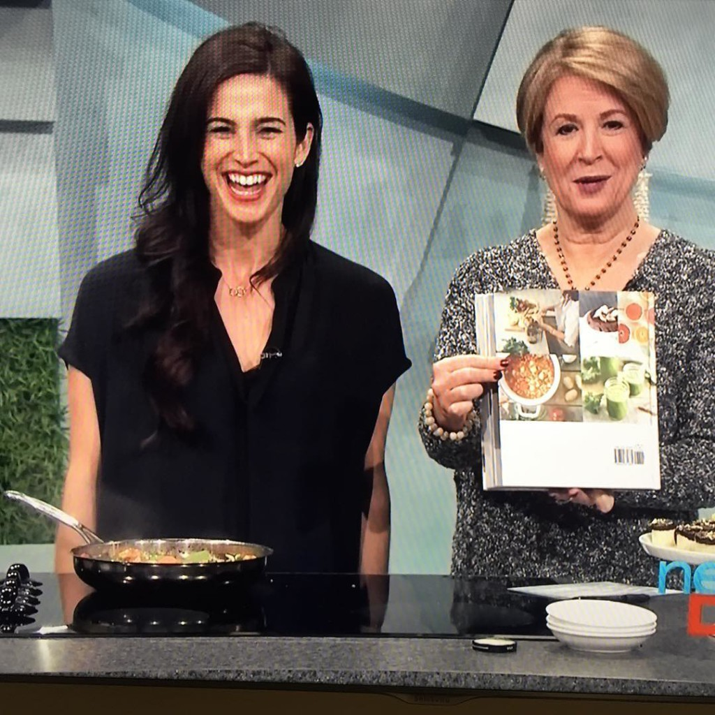 Sarah Adler on New Day Northwest: Live Cooking Show with 5 minutes meals! @simplyrealhealth