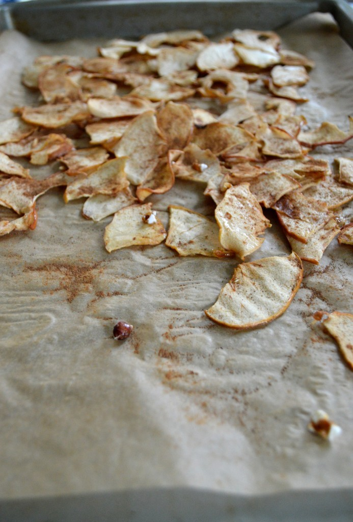 Easy Homemade Apple Chips via simply real health