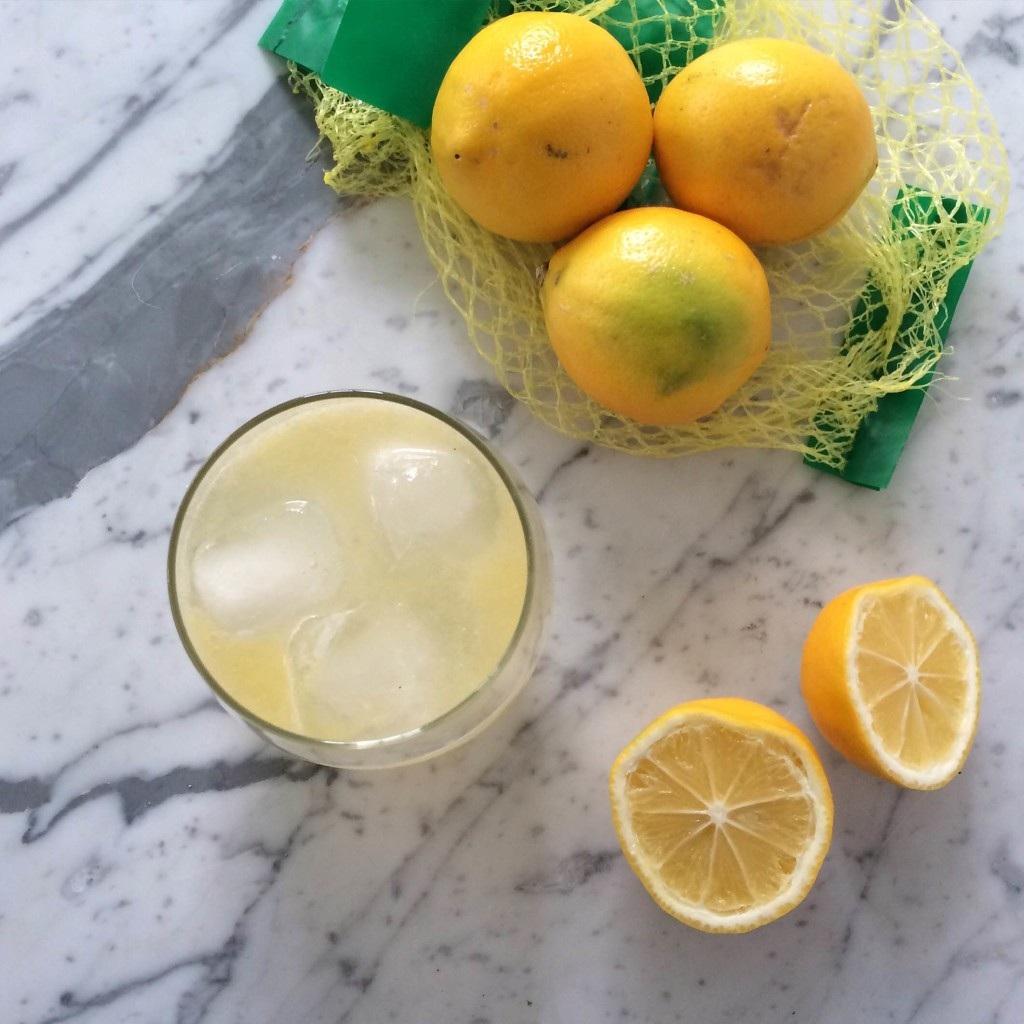 Meyer Lemon Working Girl Cocktail via Simply Real Health