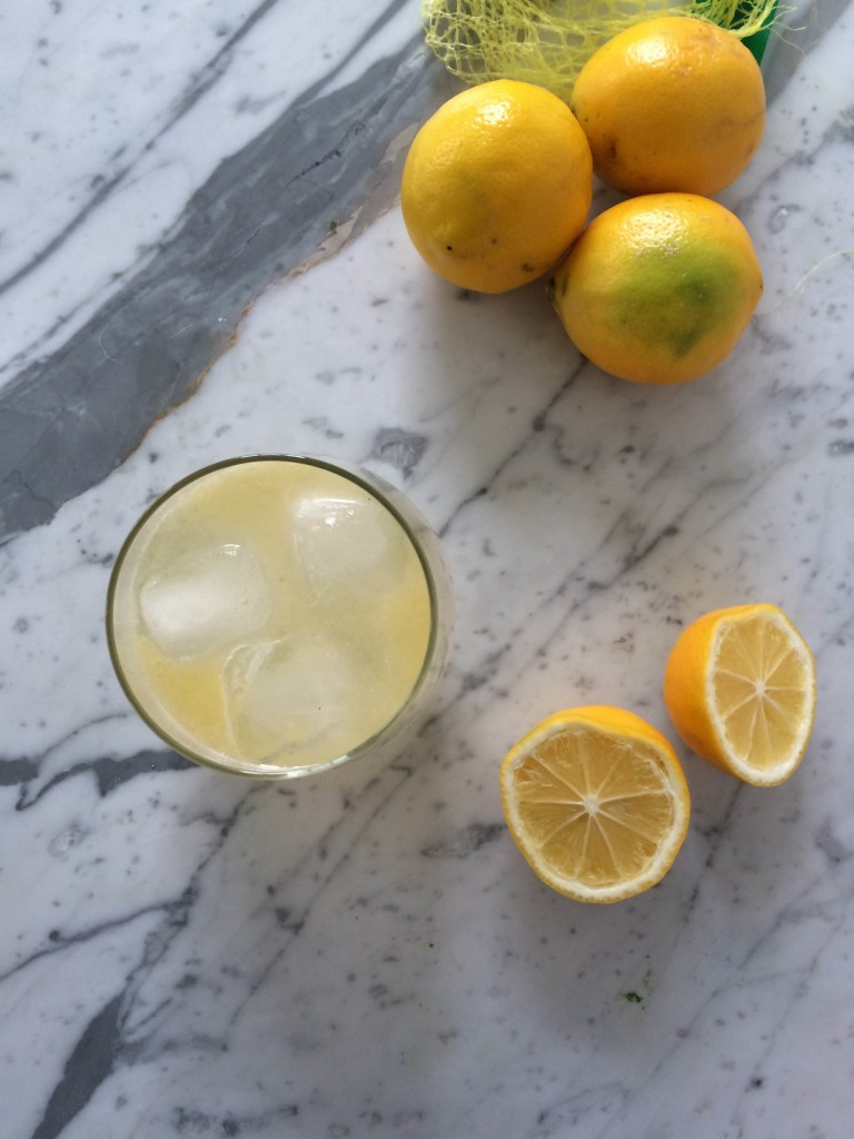 Meyer Lemon Working Girl Cocktail  via www.simplyrealhealth.com