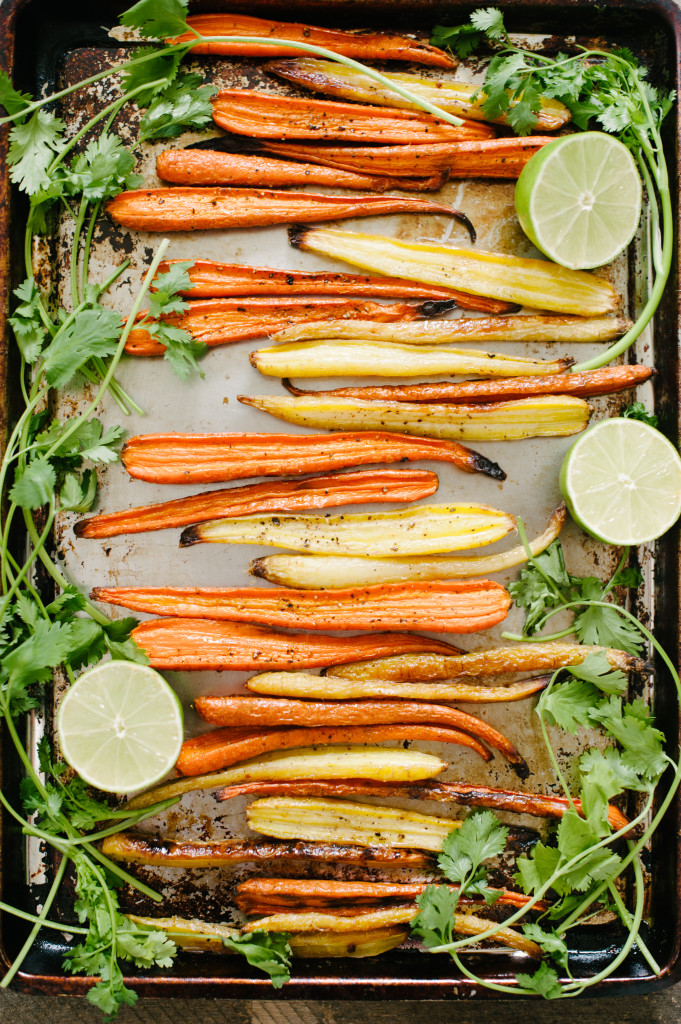 Roasted Carrots with Honey, Cilantro + Lime from the Simply Real Health Cookbook, on sale now. And why you should cook with more butter. www.simplyrealhealth.com