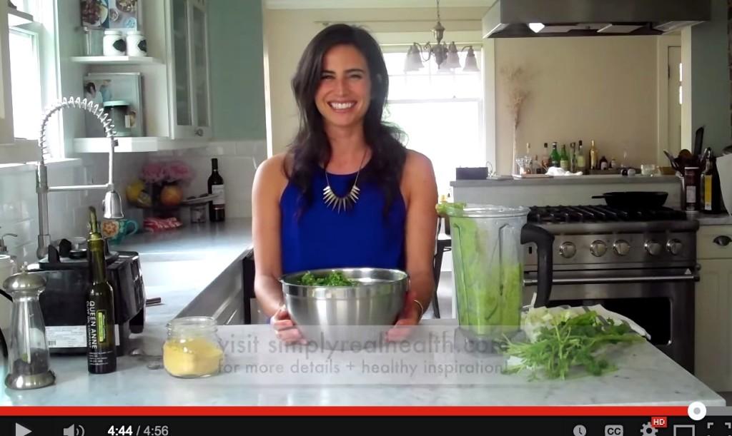 How to make yourself love kale // pesto kale salad via  Simply Real Health