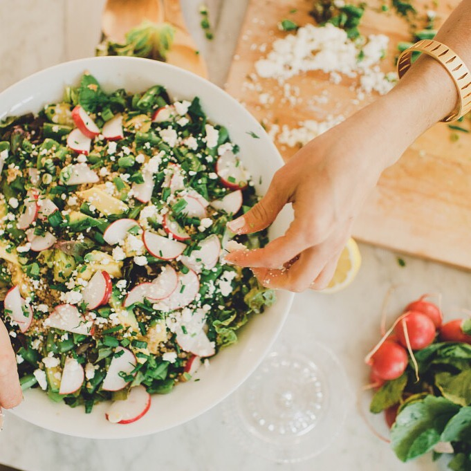 The Life Changing Salad with Lemon Feta + Dill Dressing via @simplyrealhealth