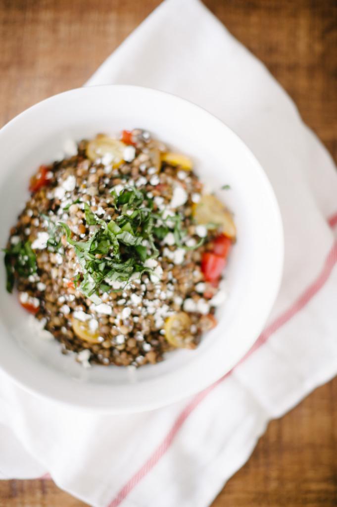 Lentil Basil Feta Salad from @simplyrealhealth