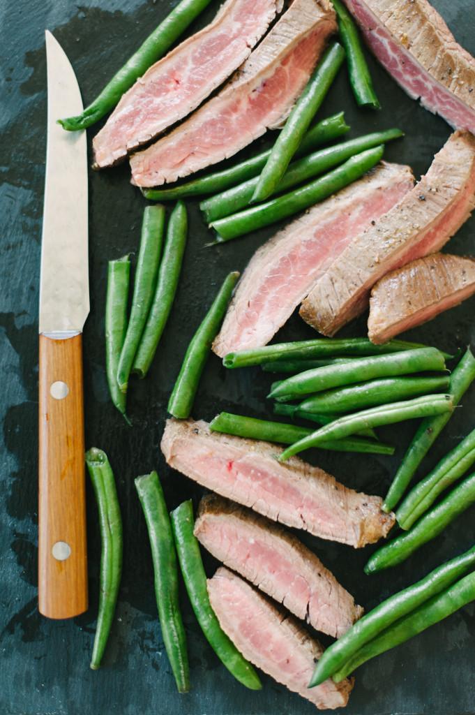 Grass fed flank steak with homemade chimichurri sauce via @simplyrealhealth