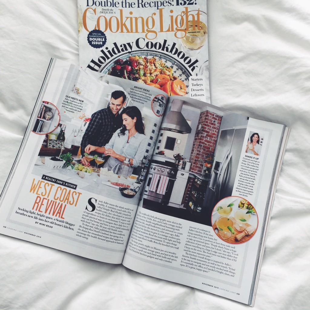 Simply Real Health featured in the November double issue of Cooking Light Magazine! via simplyrealhealth.com