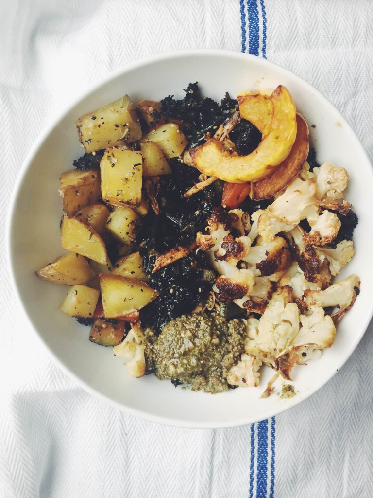 Roasted Fall Bowls via @simplyrealhealth