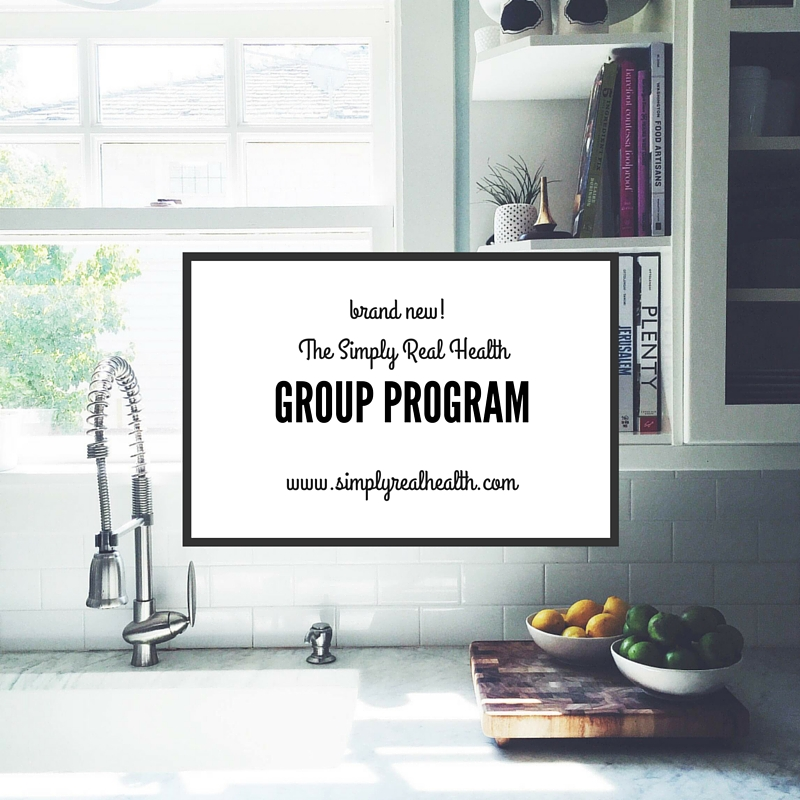 The Simply Real Health Group Program! Launches again this January! @simplyrealhealth