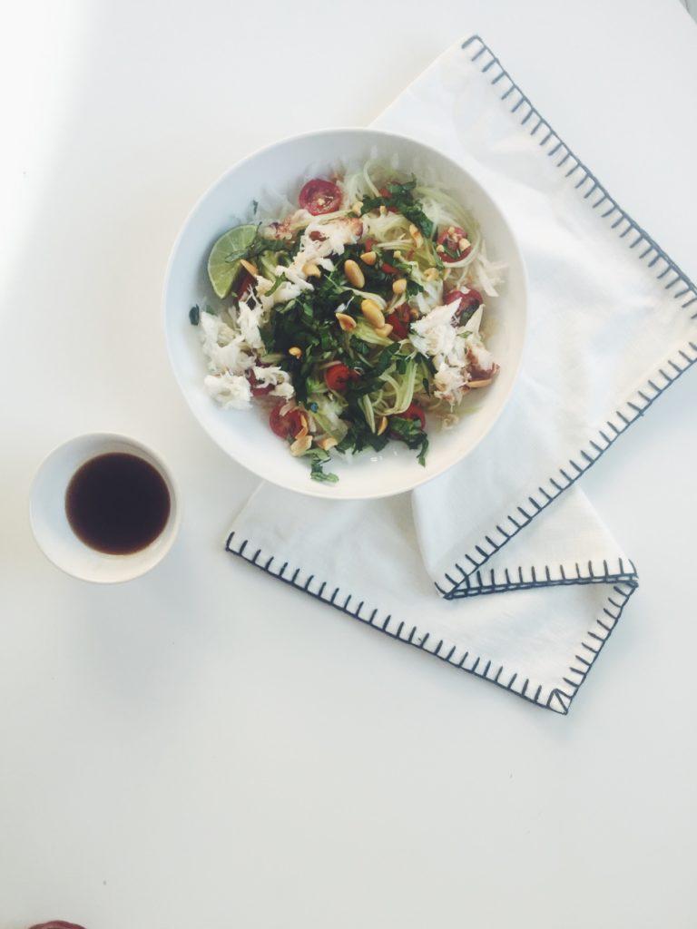 Thai Crab + Green Papaya Salad via @simplyrealhealth