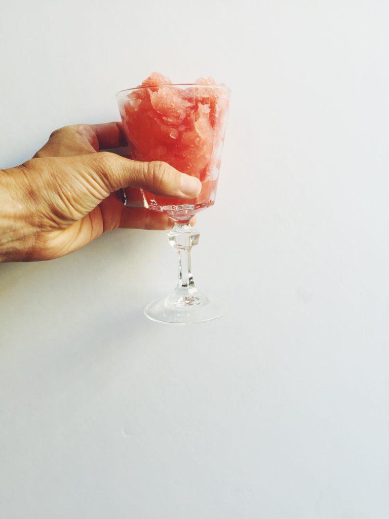 (The Easiest) Watermelon Granita via @simplyrealhealth #healthy #summer #treats