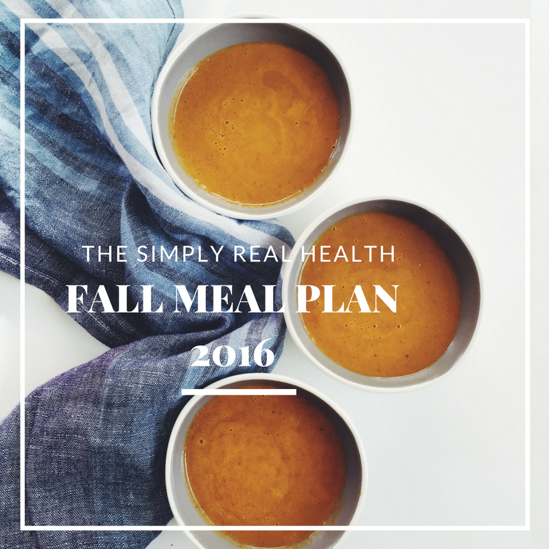 The Simply Real Health Fall Meal Plan 2016 via @simplyrealhealth