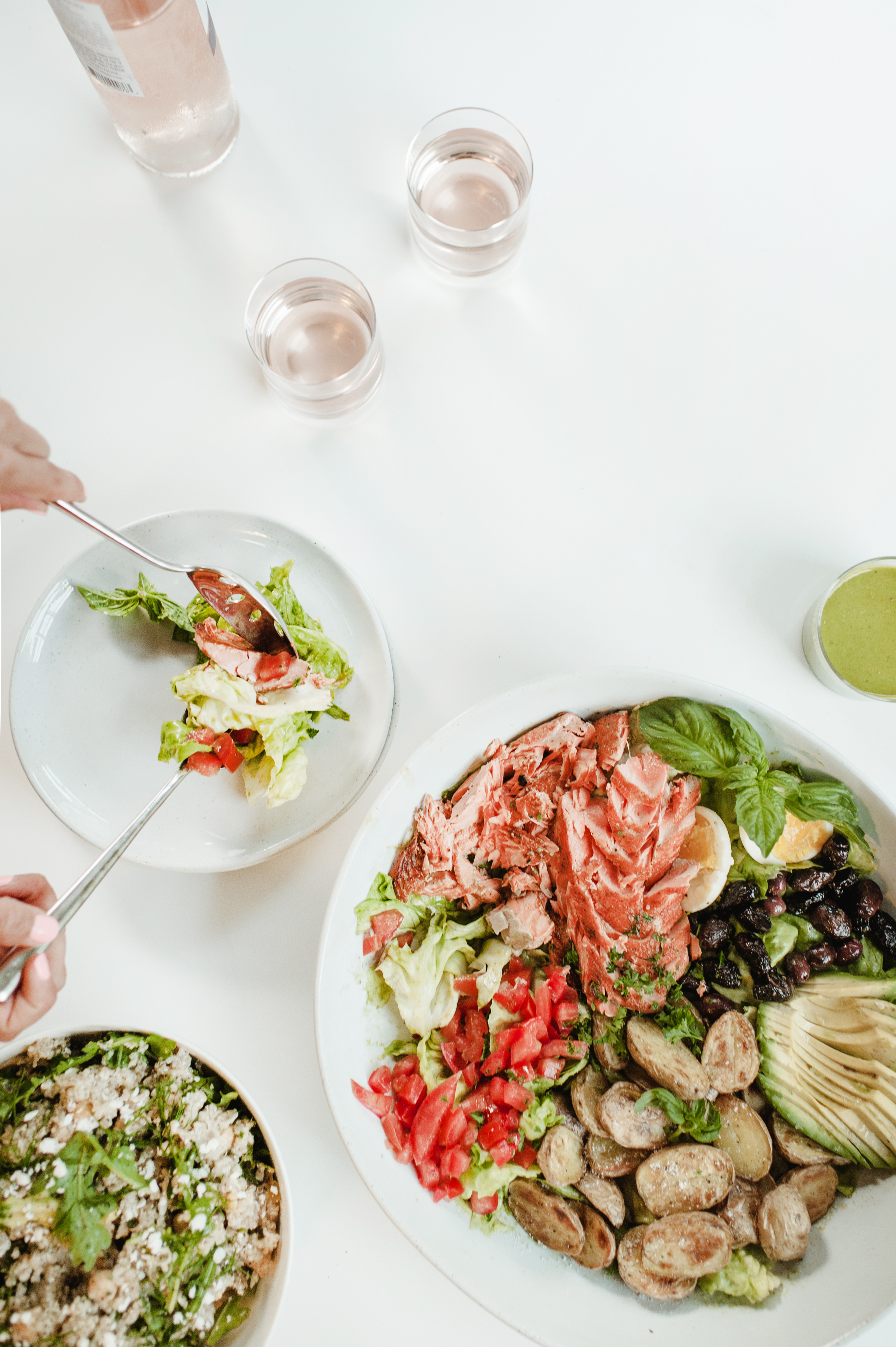 The Salmon Nicoise Salad And Daily Basil Dressing Simply Real Health