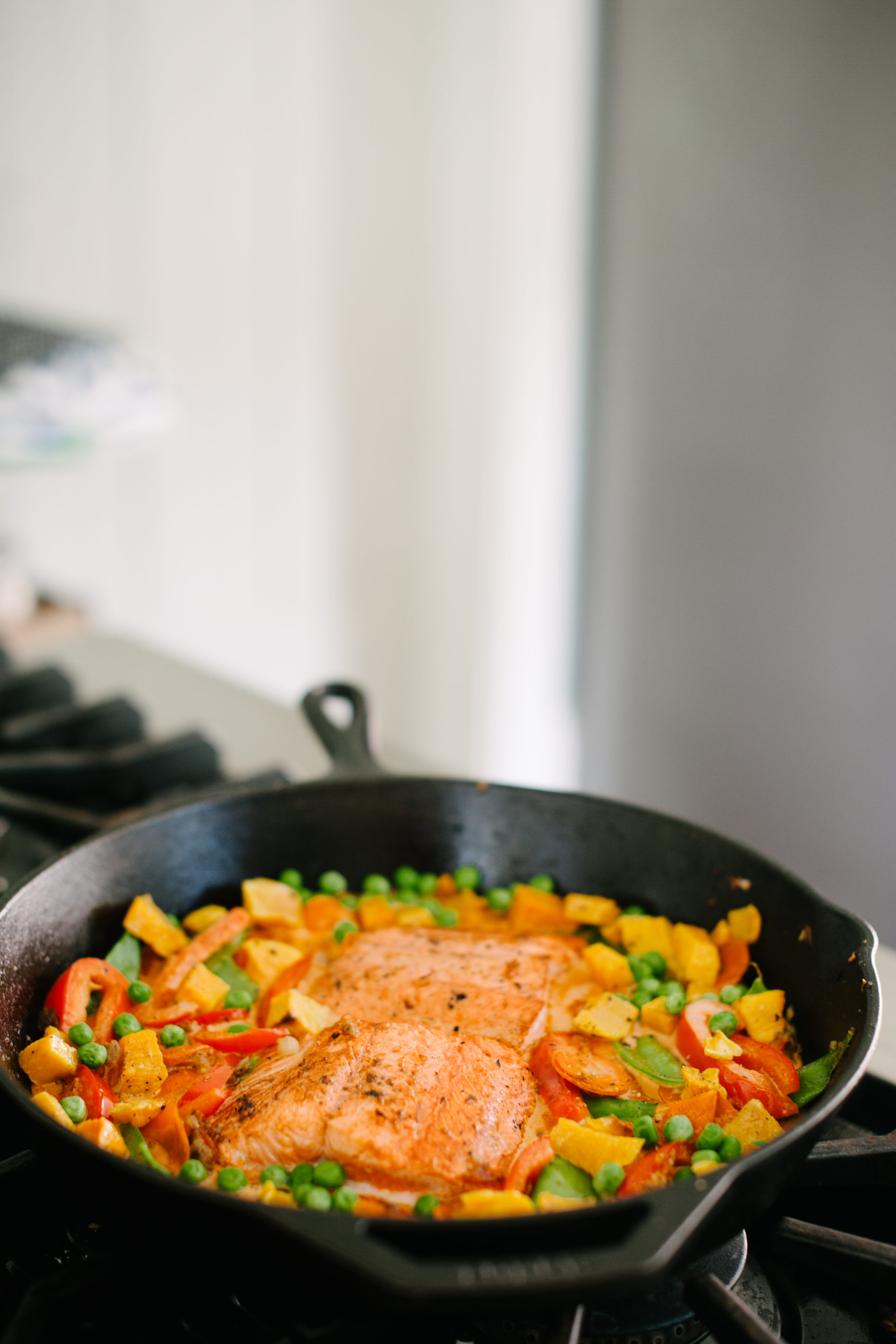 Butternut Squash, Salmon + Vegetable Curry-8